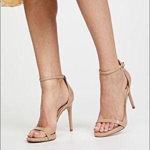 Sam Edelman Platform Heel Sandals Nude Patent